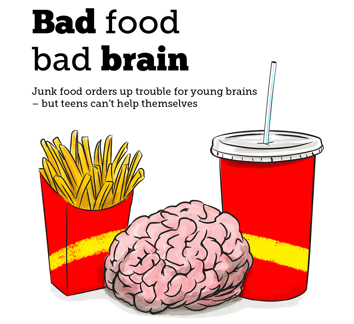 Bad food bad brain graphic - Junk food orders up trouble for young brains but teens can't help themselves